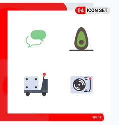Group 4 modern flat icons set for chating pump vector