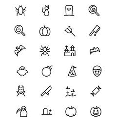 Halloween Line Icons 3 vector image