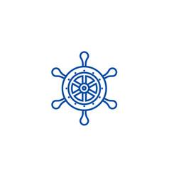 handwheel line icon concept handwheel flat vector image