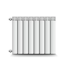 Heating radiator isolated on white vector image