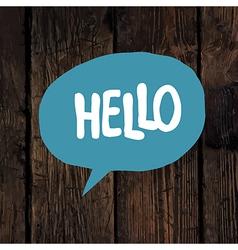 hello word vector image