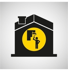 industry construction house icon vector image