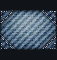 jeans frame with spangles vector image