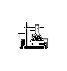 laboratory analysis icon flat design vector image