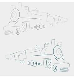 Line train vector image