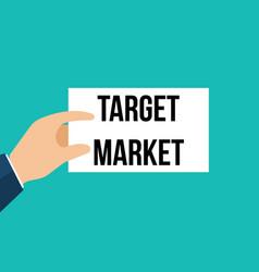 man showing paper target market text vector image