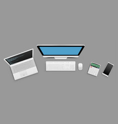 modern business technology objects vector image