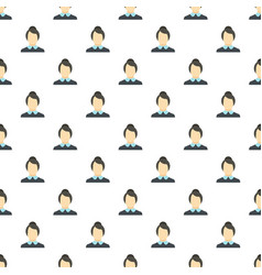 new female avatar pattern seamless vector image