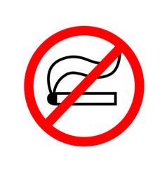 no smoking sign icon eps vector image