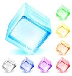 Opaque glass cubes vector