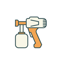 Paint sprayer concept colored icon vector