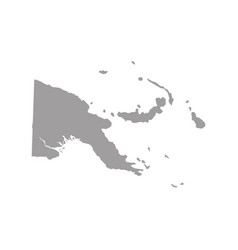 papua new guinea map in gray on a white background vector image