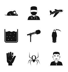 phobia symbols icon set simple style vector image