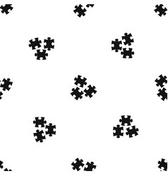 Puzzle pattern seamless black vector