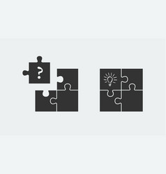 puzzle symbolizing idea and solution simple vector image