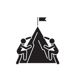 racing climbers black concept icon racing vector image