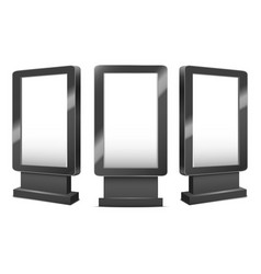 realistic detailed 3d various black blank outdoor vector image