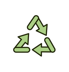recycle arrows environment ecology line and fill vector image