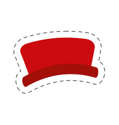 red hat snowman cut line vector image