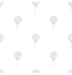 seamless heart air balloon pattern vector image