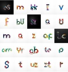 Set initial branding letter logo vector