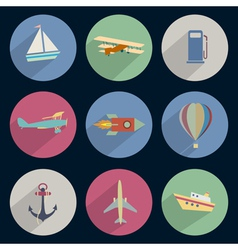 Set of icons transport vector image vector image