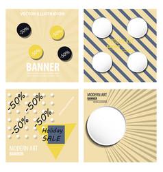 Set of modern art abstract banner square frame vector
