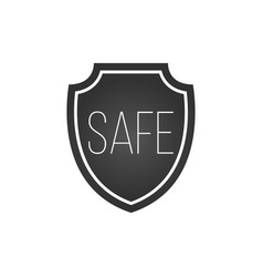 shield security protection icon with safe sign vector image