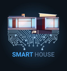 Smart house modern technology of automation and vector