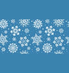 snowflakes seamless vector image