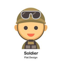 Soldier flat vector