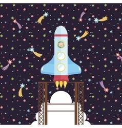 Space Exploration Cartoon Style Concept vector
