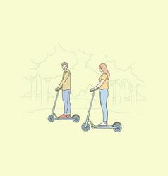 Summer recreation riding leisure time concept vector