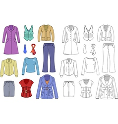 Top manager woman clothes vector