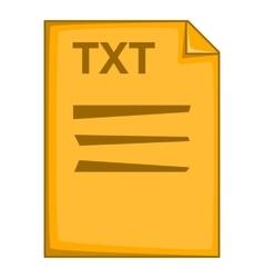 TXT file icon cartoon style vector image