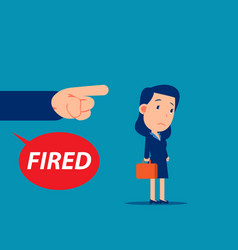 unemployment crisis and job reduction dismissed vector image