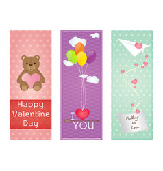 valentine greeting cards design vector image