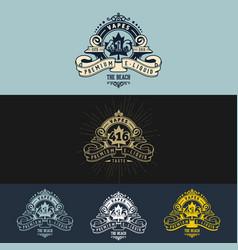 Vape vintage logo design vector