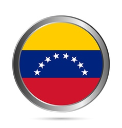 Venezuela flag button vector image