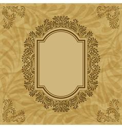 Vintage floral pattern frame vector image