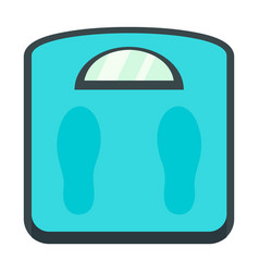 weight scales icon flat style vector image
