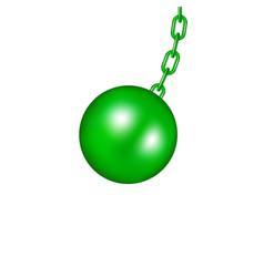 Wrecking ball in green design vector