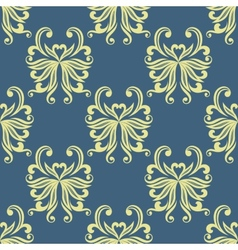 Yellow pansy seamless pattern vector