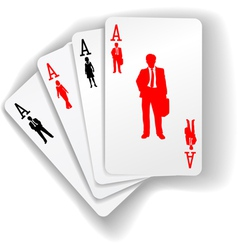 aces of business vector image vector image