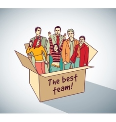 Best business team group people in box vector image vector image