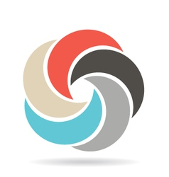 Circle infographic swirl vector