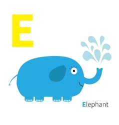 Letter E Elephant Zoo alphabet English abc with vector image