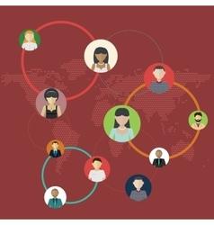 Social media circles network social vector