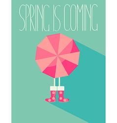 The of a spring season vector image vector image