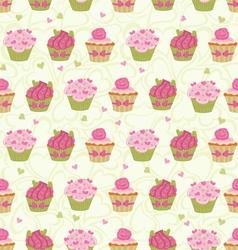 cupcakes seam vector image vector image